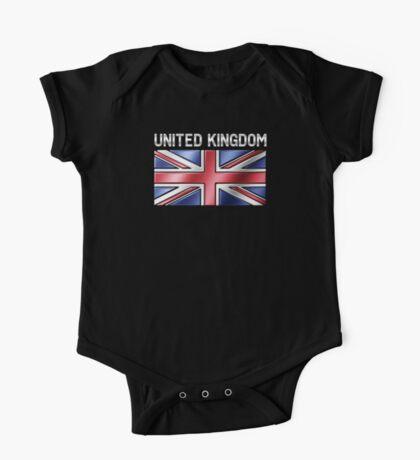 United Kingdom - British Flag & Text - Metallic One Piece - Short Sleeve