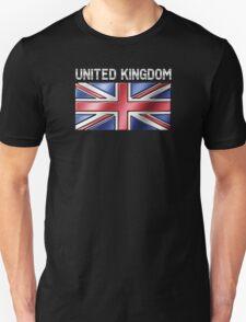 United Kingdom - British Flag & Text - Metallic T-Shirt