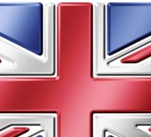 United Kingdom - British Flag & Text - Metallic Sticker