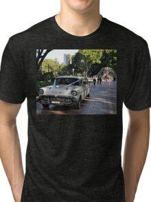 1957 Chevrolet Limousine, Hyde Park, Sydney, Australia 2012 Tri-blend T-Shirt