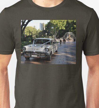 1957 Chevrolet Limousine, Hyde Park, Sydney, Australia 2012 Unisex T-Shirt