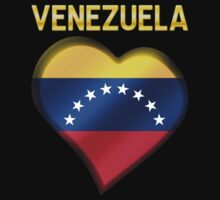 Venezuela - Venezuelan Flag Heart & Text - Metallic by graphix