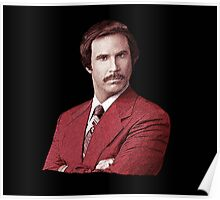 Anchorman Ron Burgundy T Shirt Poster