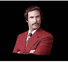 Anchorman Ron Burgundy T Shirt Photographic Print