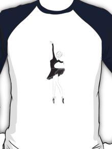 Ballet Dancer in Flower Tutu Skirt T-Shirt