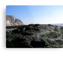 Rocks at low tide Metal Print