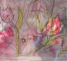 TULIPS AND BITS(C2012) by Paul Romanowski