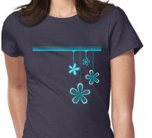 raining flowers Womens Fitted T-Shirt