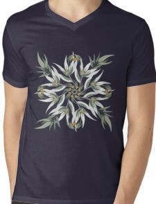 Circular pattern of eucalyptus leaves and seeds Mens V-Neck T-Shirt