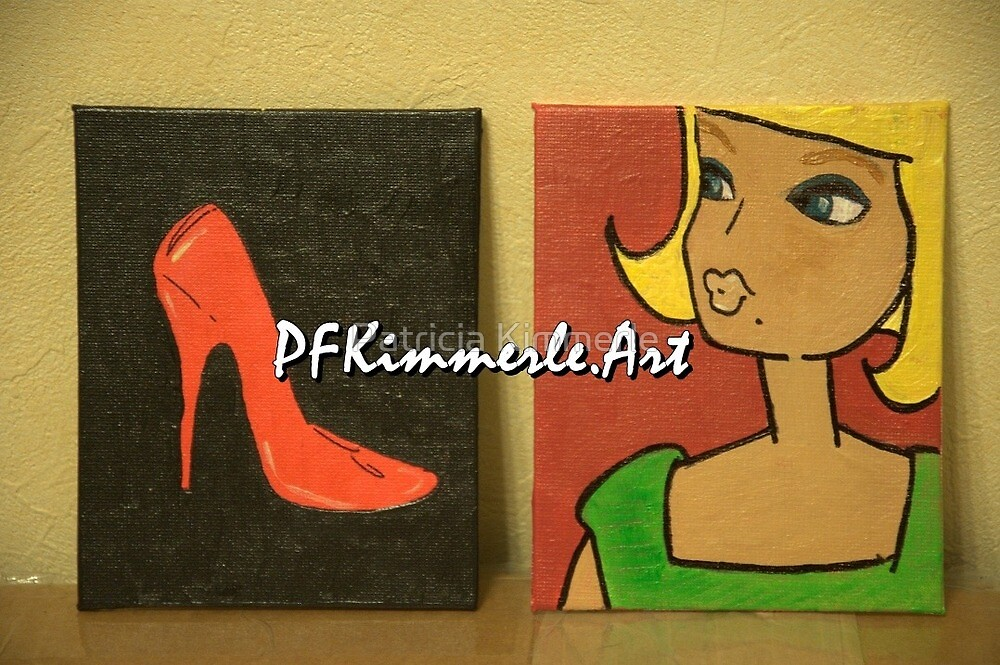 Barbie and Shoe PFKimmerle Art by Patricia Kimmerle