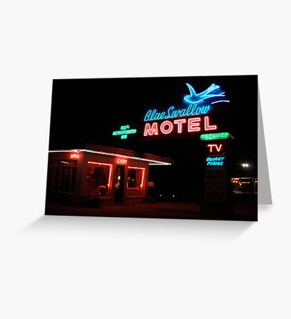 Blue Swallow Motel Greeting Card