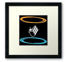 Portal Cake Framed Print