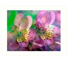 Textured Flowers Art Print
