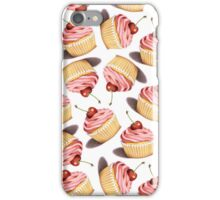 Pink Cupcakes Twirling iPhone Case/Skin