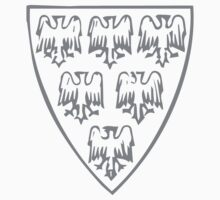 A Complete Guide to Heraldry - Figure 454 — Arms of Piers de Gaveston, Earl of Cornwall (d 1312) One Piece - Short Sleeve