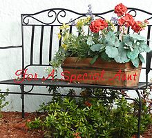 Bench & Flowers by Peri