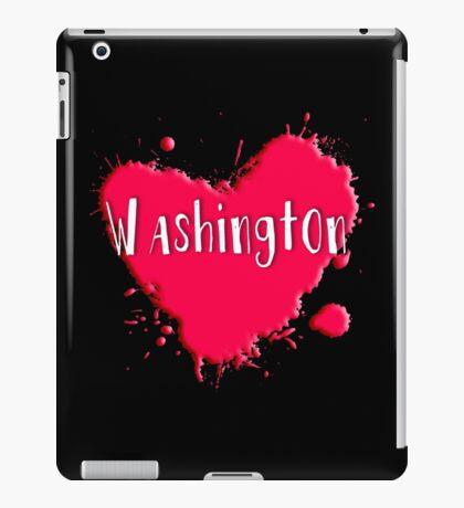 Washington Splash Heart Washington iPad Case/Skin