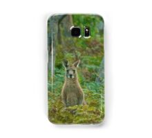 Kangaroo in the ferns B Samsung Galaxy Case/Skin