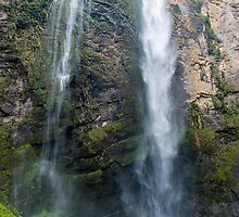 Gocta Falls, the third largest in the world (771m). Amazonas, Peru  by juan jose Gabaldon