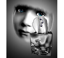 Tears caught Photographic Print
