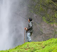 Gocta Falls, the third largest in the world (771m). Amazonas, Peru  by juan jose Gabaldon