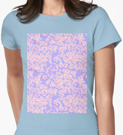 scattered bubbles Womens Fitted T-Shirt