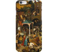 Netherlandish Proverbs - Pieter Bruegel the Elder iPhone Case/Skin