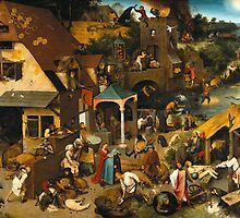 Netherlandish Proverbs - Pieter Bruegel the Elder by Adam Asar