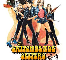 Switchblade Sisters Alt 1 (Orange) by PulpBoutique