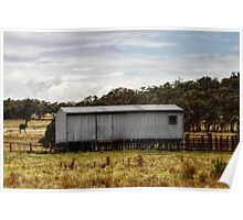 Shearing shed at Eldorado Poster