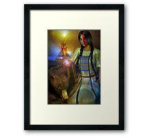 BEAR WOMAN Framed Print