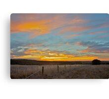 Sunset over Geelong Canvas Print