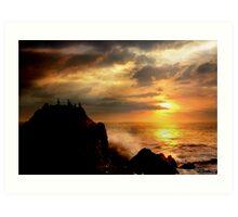 Sunset at Cormorant Rock Art Print