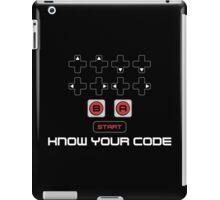 """Know Your Code"" Nintendo NES Konami Code iPad Case/Skin"