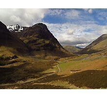 Glen Coe, Scottish Highlands Photographic Print