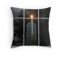 Window Candle Throw Pillow