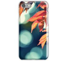 blue bokeh iPhone Case/Skin
