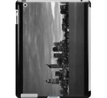 city skyline in black and white iPad Case/Skin