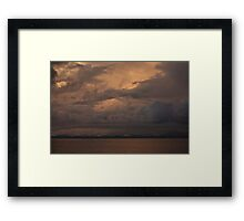 Sunset over Far North Queensland Framed Print