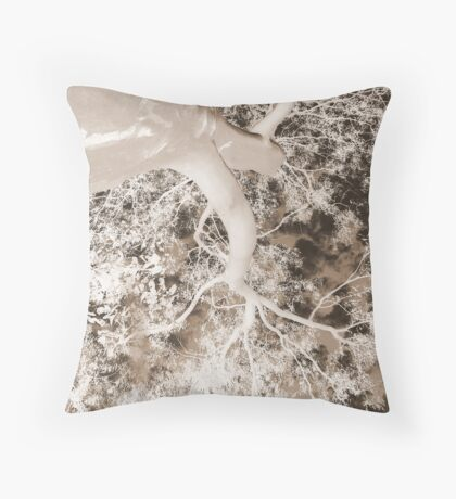 Graceful Gums-(Inverted)-(Sepia) Throw Pillow