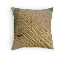 Sand sculptures at the Cowrie Hole Throw Pillow
