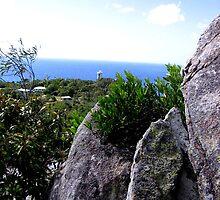 Lighthouse Lookout - Ocean Blue by Roanne