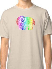 Rainbow Elephant Doodle Classic T-Shirt