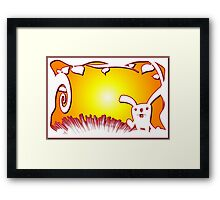 Easter Bunny 4 Framed Print