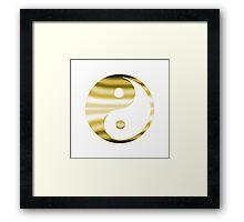 Faux Gold Yin Yang Symbol Framed Print