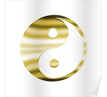 Faux Gold Yin Yang Symbol Poster