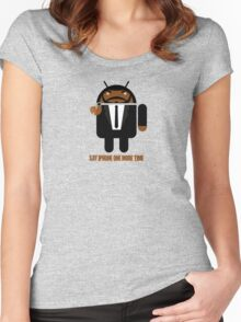 Pulp Fiction BugDroid Women's Fitted Scoop T-Shirt