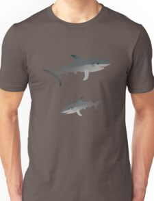 Two swimming sharks Unisex T-Shirt