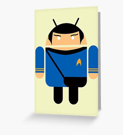 Dr. Spock BugDroid Greeting Card