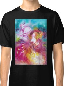 PIERROT AND ARLECCHINA Venetian Carnival Masks Classic T-Shirt